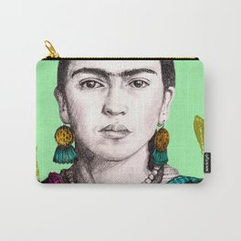 Minty Frida Carry-All Pouch