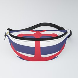 AFE Nautical Red Ship Anchor Fanny Pack