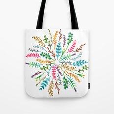 Radial Foliage Tote Bag
