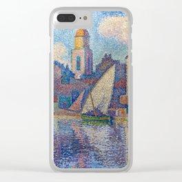 """Paul Signac """"Le clocher de Saint-Tropez"""" Clear iPhone Case"""