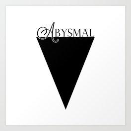 Abysmal: Black Art Print