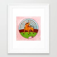 taurus Framed Art Prints featuring Taurus by Sandra Nascimento