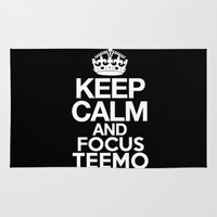 league of legends Area & Throw Rugs featuring Keep Calm and Focus Teemo - League of Legends by Vortha