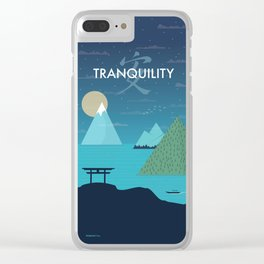 Tranquility (Night) Clear iPhone Case