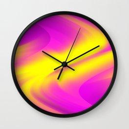 DREAM PATH (Purples, Fuchsias & Yellows) Wall Clock