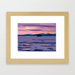 Party Boat Framed Art Print