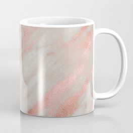 Smooth rose gold on gray marble Coffee Mug