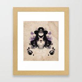 Rorschach Undertaker | Textured Framed Art Print