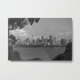 Black and White Sydney   New South Wales Metal Print