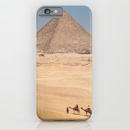 Camels at the Pyramids iPhone Case