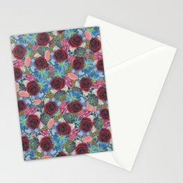 Garden Bouquet  through Stained Glass Stationery Cards