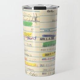 Library Card 3503 Exploring the Moon Travel Mug