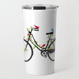 Old bicycle with birds Travel Mug