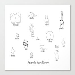 Animals from behind Canvas Print