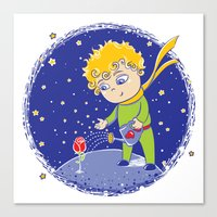 the little prince Canvas Prints featuring Little Prince by Bruna Sousa