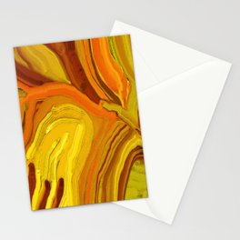 Abstract leaves in natural colors Stationery Cards