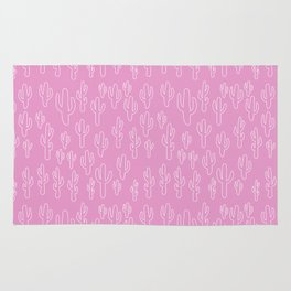 Cactus in Pink Palette Rug