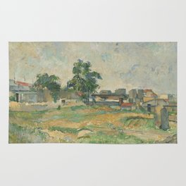 Paul Cézanne - Landscape near Paris Rug