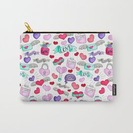 Lovely doodle drawing Valentine's Day gift Carry-All Pouch