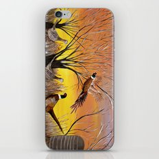 Pheasants in the sunrise iPhone & iPod Skin