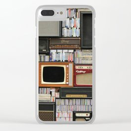 vintage sounds Clear iPhone Case