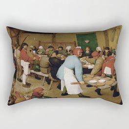 Peasant Wedding by Pieter Bruegel the Elder Rectangular Pillow