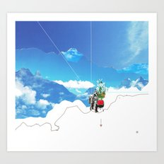 Experiment am Berg 35 Art Print