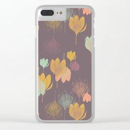 Scandi Violets Deep Purple Clear iPhone Case