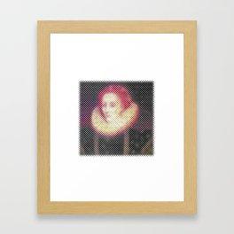 Dotted Queen Elizabeth I Framed Art Print
