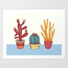 Cacti Art Print