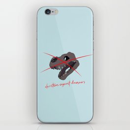 christians against dinosaurs iPhone Skin