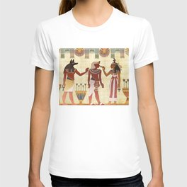 egyptian design man woman priest T-shirt