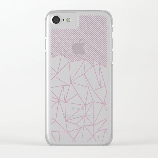 Ab Lines 45 Pink Clear iPhone Case