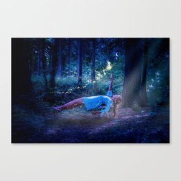 Woman Floating In Nature Canvas Print