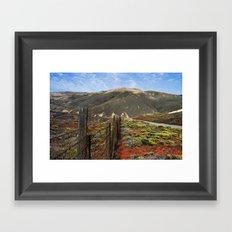 Big Sur Mountains Framed Art Print