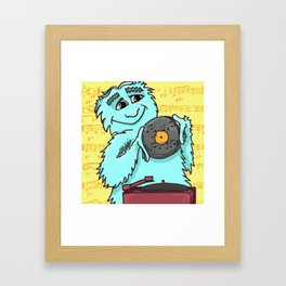 Jazz loving Yeti Framed Art Print