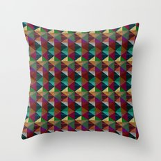 Cylinders and Bricks Throw Pillow