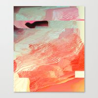 waves Canvas Prints featuring Waves by Okti