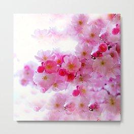 Cherry Blossom Tree So Pink Metal Print