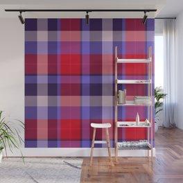 Plaid Pattern Print Wall Mural