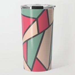 Geometric Colour Pattern V6 Travel Mug