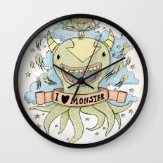 I love monster Wall Clock