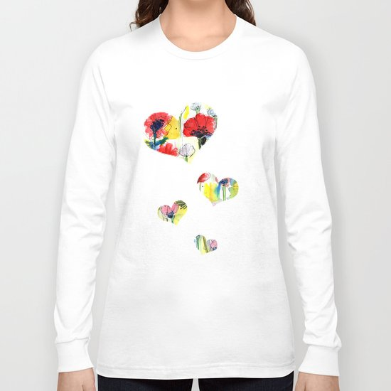 Poppy Floral Long Sleeve T-shirt