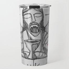 Jesus Christ Eucharist illustration Travel Mug