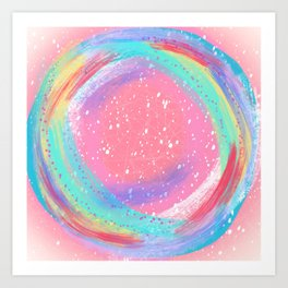 Candy Colored Circles Art Print