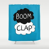 tfios Shower Curtains featuring Boom Clap (the sound of my heart - TFIOS) by Tangerine-Tane