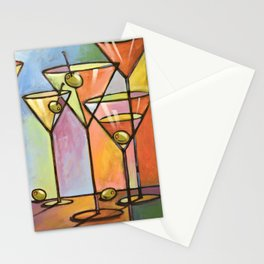 Martini Bar ... Abstract alcohol lounge bar kitchen art Stationery Cards