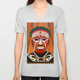 African Tribesman 3 Unisex V-Neck