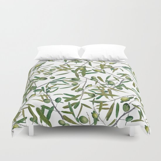 Olive Pattern Duvet Cover By Color And Color Society6
