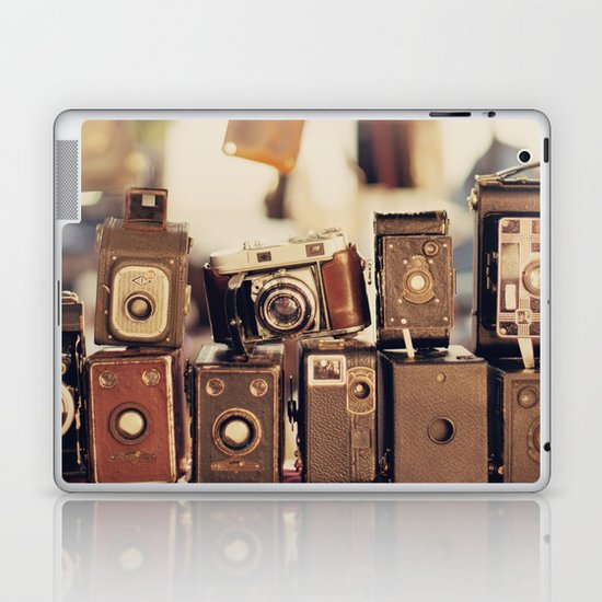 Old Cameras (Vintage and Retro Film Cameras Collection) Laptop & iPad Skin